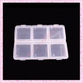 2 boîtes de rangement 6 compartiments 8cm