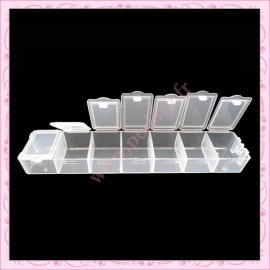 2 Boites de rangement 7 compartiments pour perles, nail art, loisirs créatif….