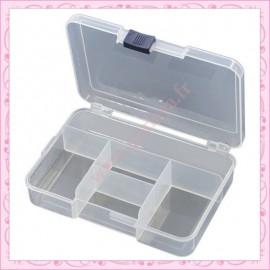 1 boîte de rangement à 5 compartiments