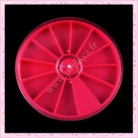 3 petites boîtes de rangement carrousel rose