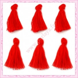 Lot de 20 pompons rouge 3cm