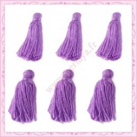 Lot de 20 pompons violet 3cm