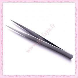1 pince de précision à pointe fine argentée 15cm en métal