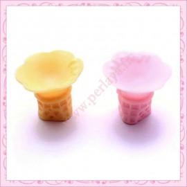 2 cornets de gauffre à glace en resine