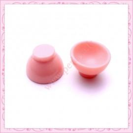5 bols en resine rose 2,3cm