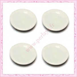10 assiettes en porcelaine 21mm