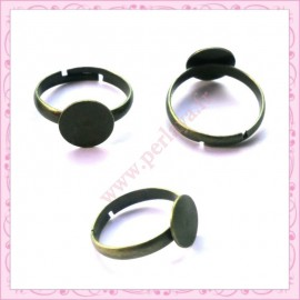 lot de 5 supports de bague argentés 10mm