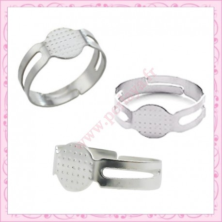 lot de 5 supports de bague argenté