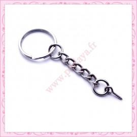 5 anneaux porte clef 6cm avec piton