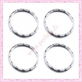 200 anneaux porte clef 25mm en métal