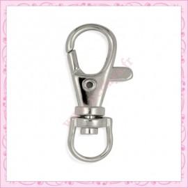 5 mousquetons porte clef 32.5mm