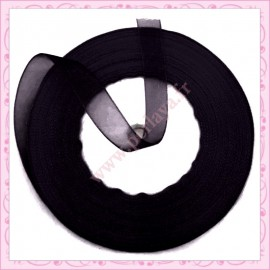45 mètres de ruban organza 10mm noir