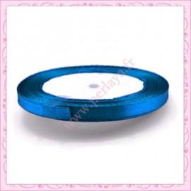 20 mètres de ruban satin 6mm bleu