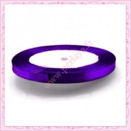 20 mètres de ruban satin 6mm violet