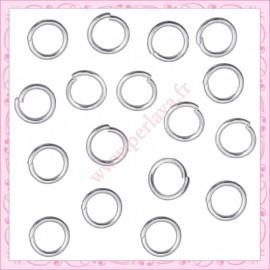 400 anneaux argentés 8mm