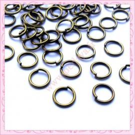 Lot de 500 anneaux bronze 8mm