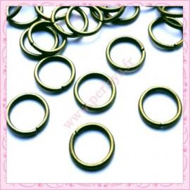 Lot de 200 anneaux bronze 10mm en métal