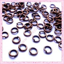 Lot de 500 anneaux cuivrés 4mm en métal