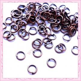 Lot de 500 anneaux cuivrés 5mm en métal