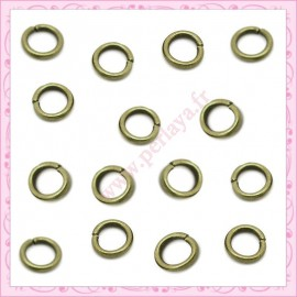 100 anneaux bronze 6mmx1mm
