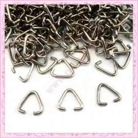 Lot de 500 anneaux triangulaires 9mm argentés foncés