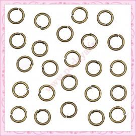 2000 anneaux bronze 6mmx1mm
