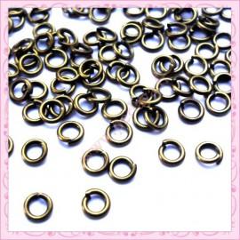 Lot de 500 anneaux bronze 5mmx1mm en métal