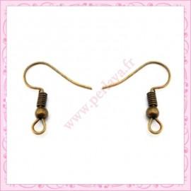 50 crochets bronze pour boucle d'oreille