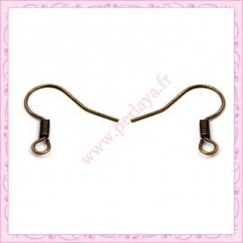 500 crochets pour boucle d'oreille bronze