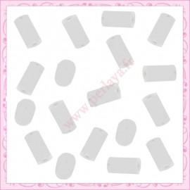 200 petits bouchons pour boucle d'oreille 4mm en plastique