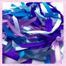mélange de 50 noeuds satin bleu violet