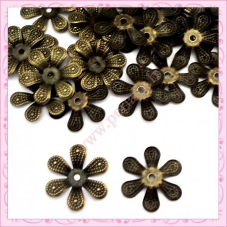Lot de 100 calottes en métal bronze 4cm