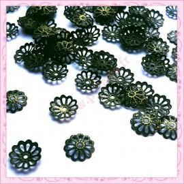 100 calottes bombées bronze 9mm
