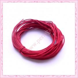 25 mètres de fil coton ciré rouge 1mm