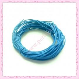 25 mètres de fil coton ciré bleu 1mm