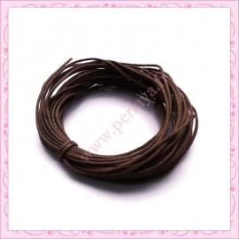 25 mètres de fil coton ciré marron 1mm