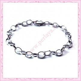 5 bracelets chaine argentés pour bracelet breloque