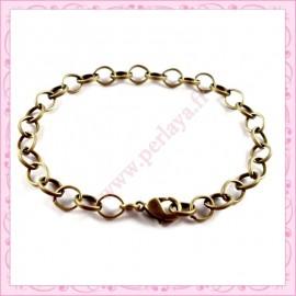 12 bracelets chaine en métal bronze