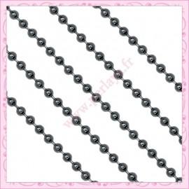 2 mètres de chaine bille noire 2mm