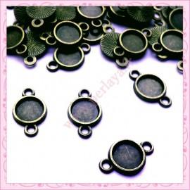 Lot de 50 connecteurs bronze pour cabochons 8mm