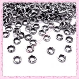 200 intercalaires argentées 4mm