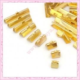 Mixte de 180 griffes dorés 6mm - 8mm - 10mm - 13mm - 16mm - 20mm - 25mm - 30mm - 35mm