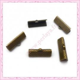 lot de 10 griffes ruban bronze 20mm