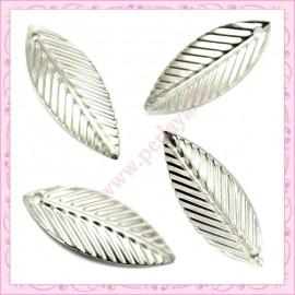 5 filigranes papillons argentées