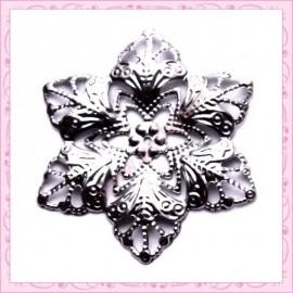 5 filigranes fleurs argentées