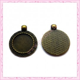 Lot de 30 supports cabochons bronze de 25mm