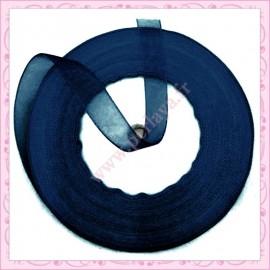 45 mètres de ruban organza 10mm bleu