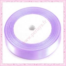 23 mètres de ruban satin 12mm violet