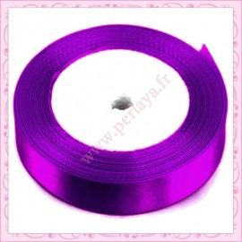 23 mètres de ruban satin 12mm violet lilas