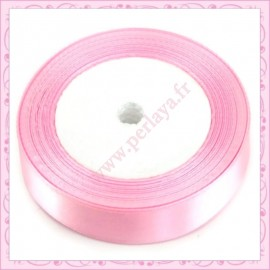 23 mètres de ruban satin 12mm rose